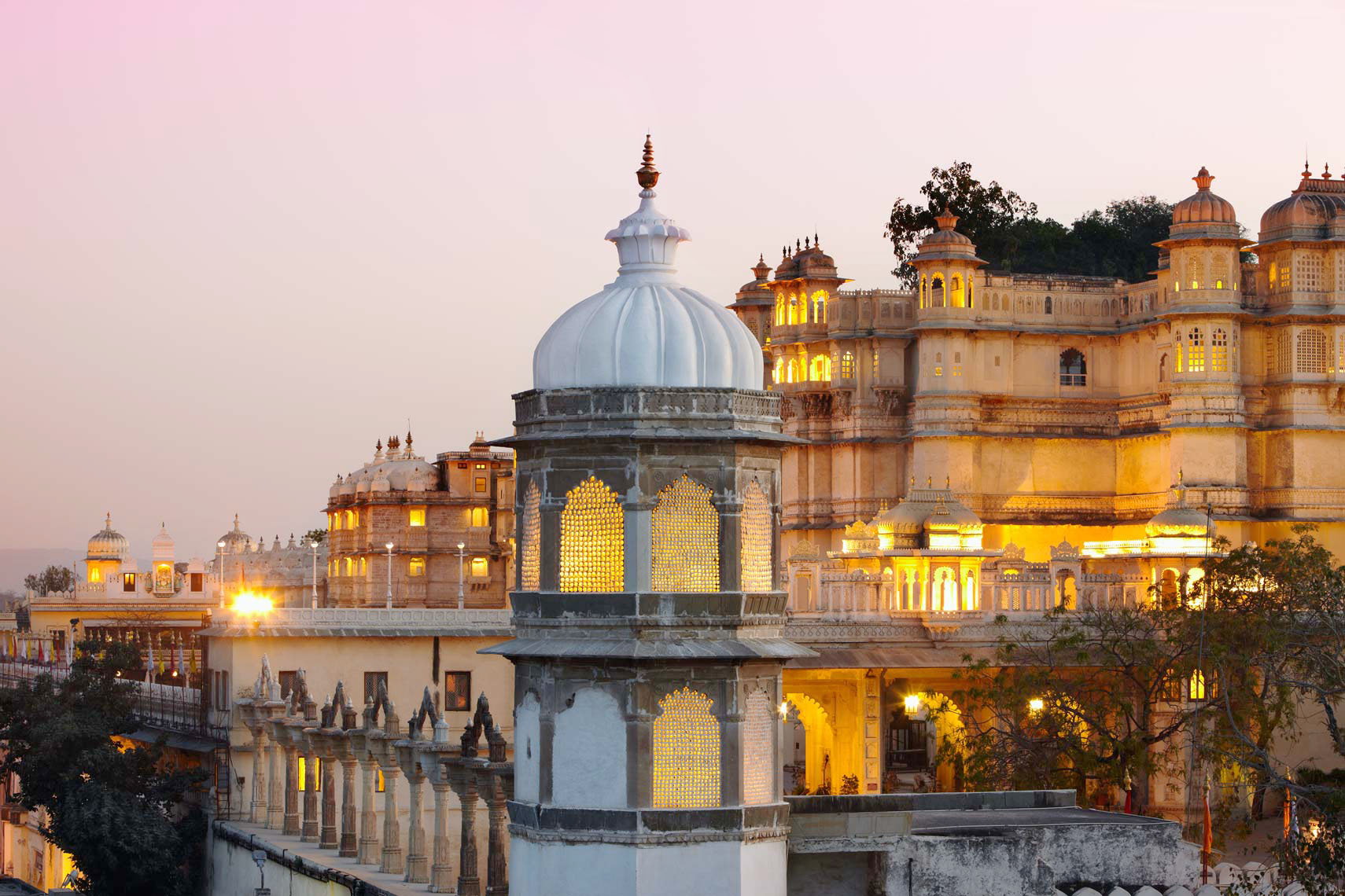 City Palace Hotel, Udaipur, Rajasthan, India